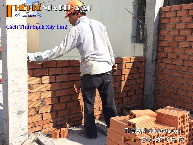 Cách tính số lượng gạch để xây dựng 1m2 tường