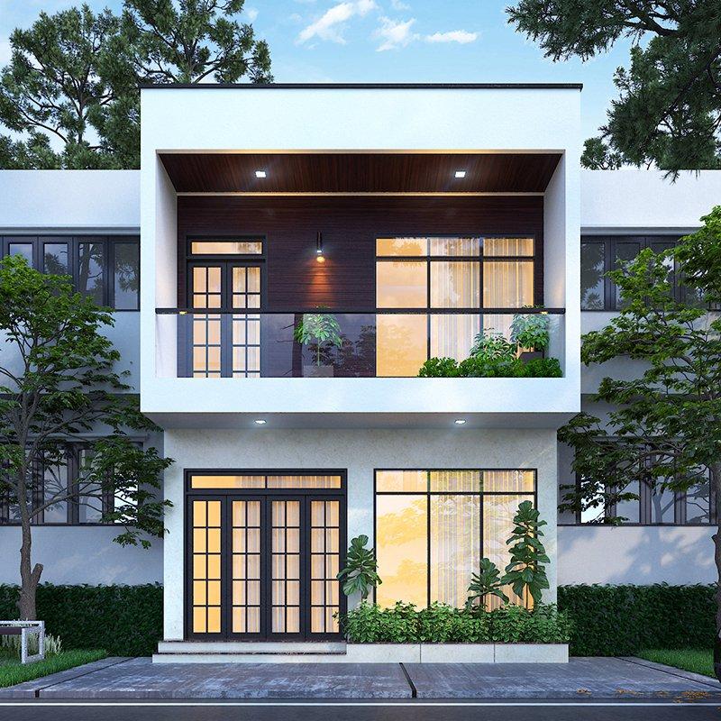 Mẫu nhà phố mặt tiền 8m