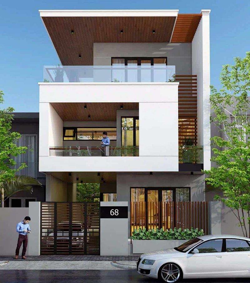 Thiết kế nhà phố 8m mặt tiền