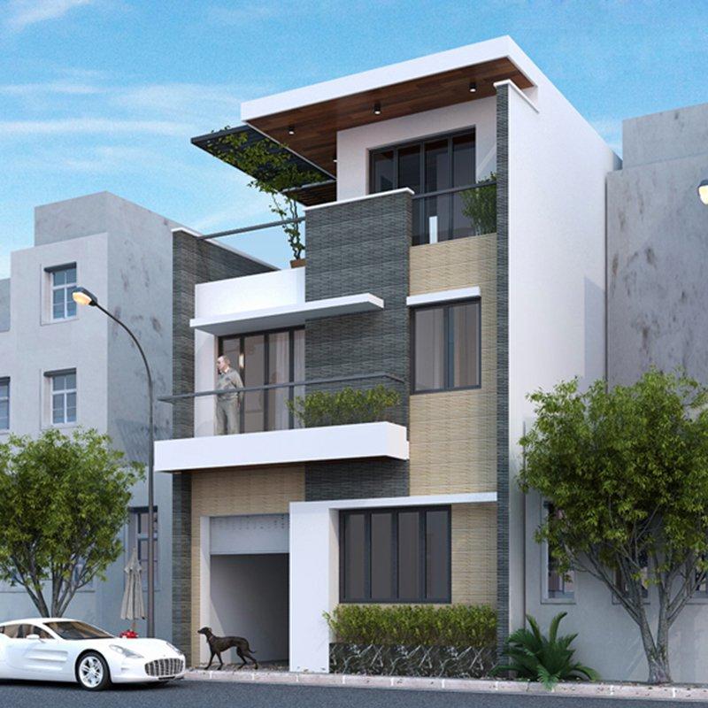 Nhà phố mặt tiền 8m