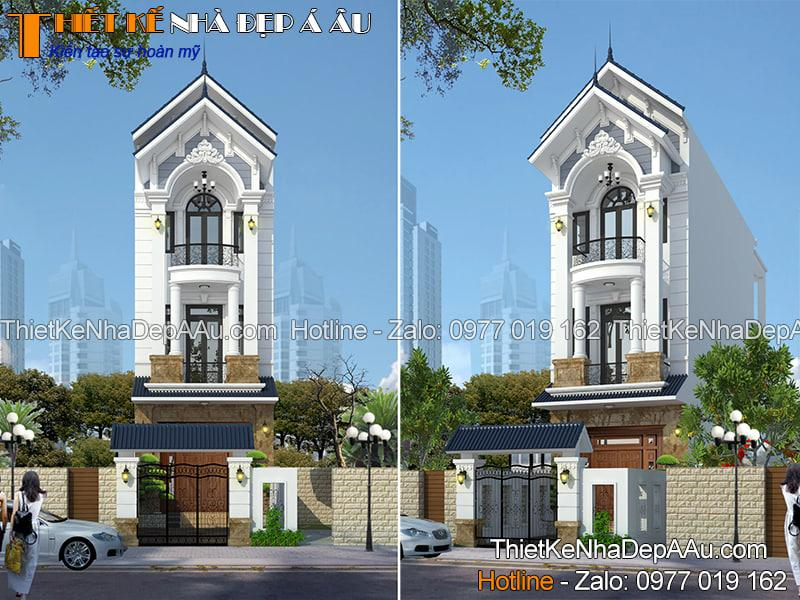 Nhà phố 3 tầng mái thái