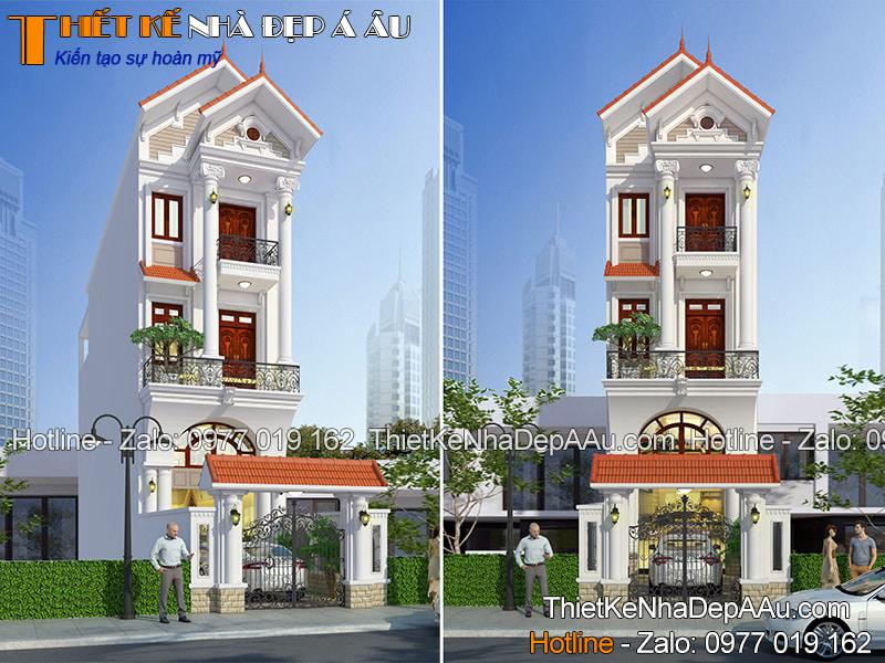 Nhà 3 tầng mái thái