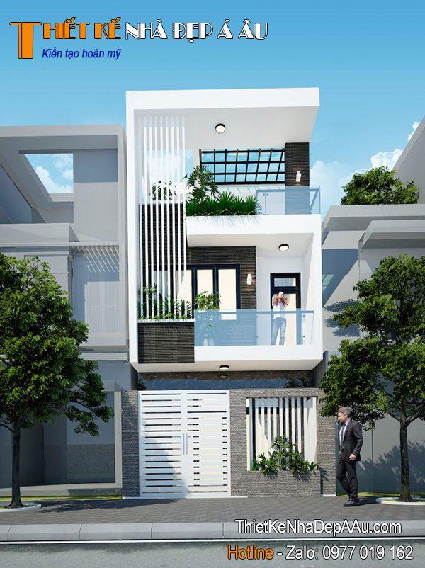 Mẫu nhà phố 3 tầng đẹp