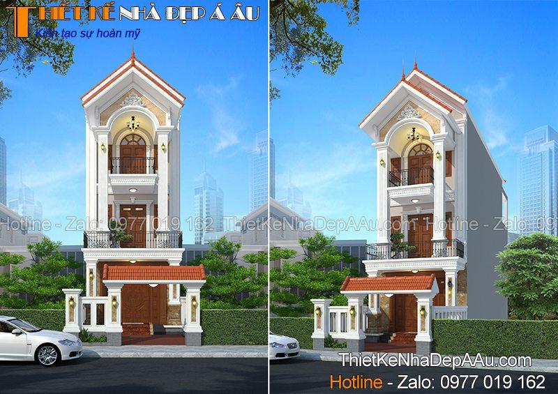 Nhà 3 tầng mái thái 90m2