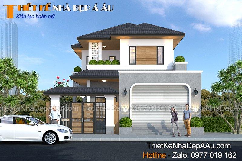 Biệt thự kiểu mái Nhật