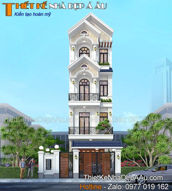Mẫu nhà phố mặt tiền 5m đẹp