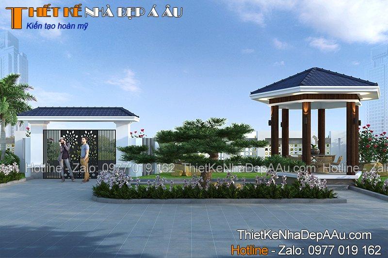 Thiết kế sân vườn nhà cấp 4