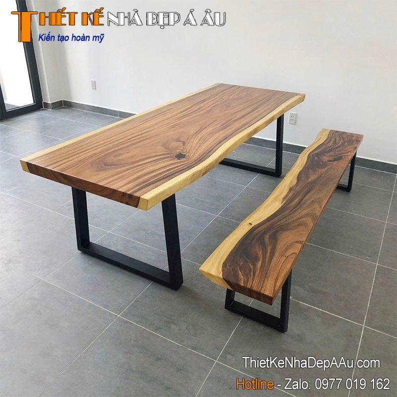 bộ bàn ghế phòng ăn nguyên khối