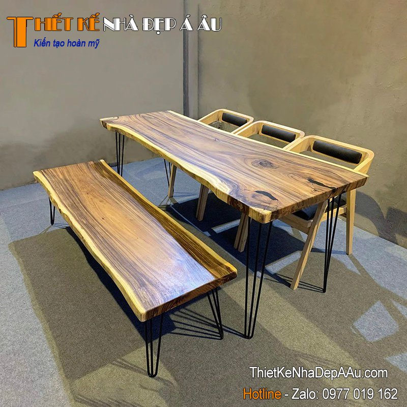 Mặt bàn gỗ nguyên tấm