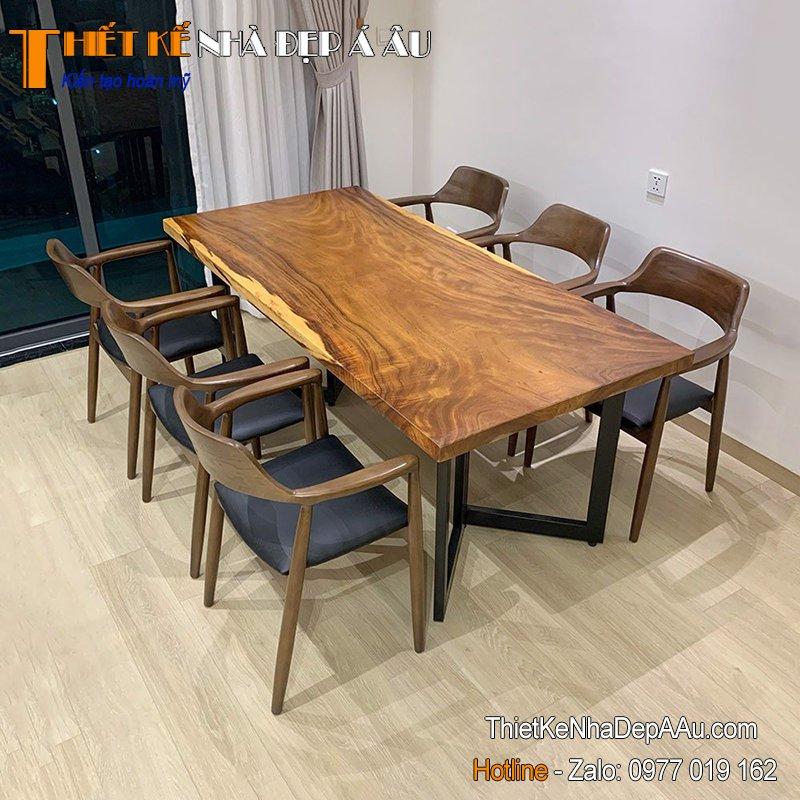 Bàn ghế gỗ phòng ăn nguyên tấm
