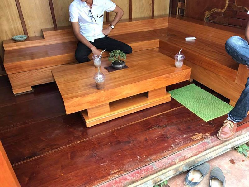 Sofa gỗ nguyên khối