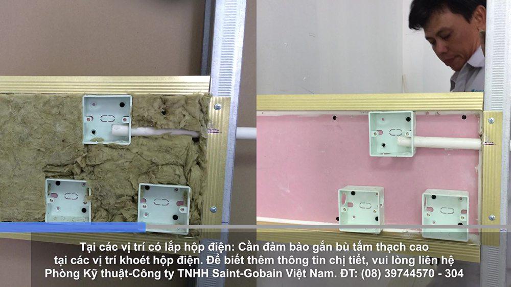 Xử lý vị trí lắp đặt hộp điện vị trí vách ngăn