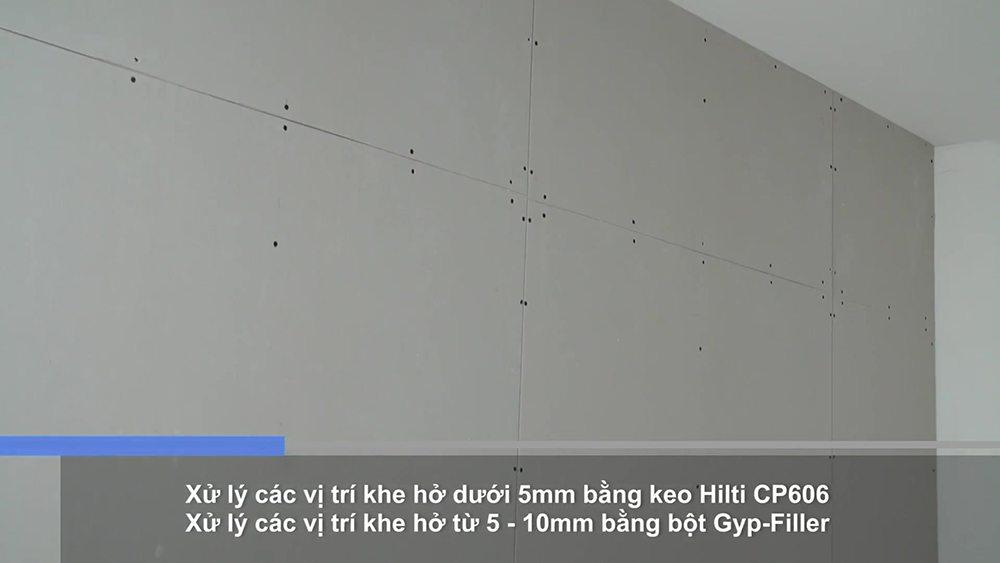 Công đoạn xử lý thẩm mỹ cho tấm vách ngăn