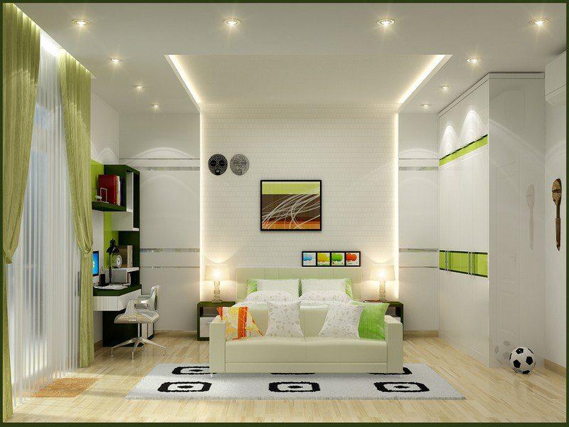Vách ngăn thạch cao trang trí phòng khách