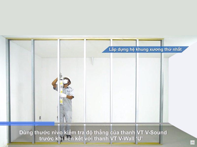 Quy trình thi công vách ngăn thạch cao