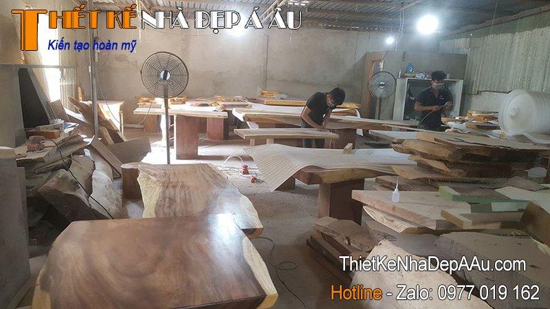 Xưởng sản xuất gỗ nguyên tấm