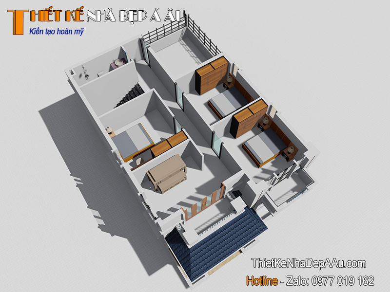 Mặt bằng nhà 2 tầng 80m2